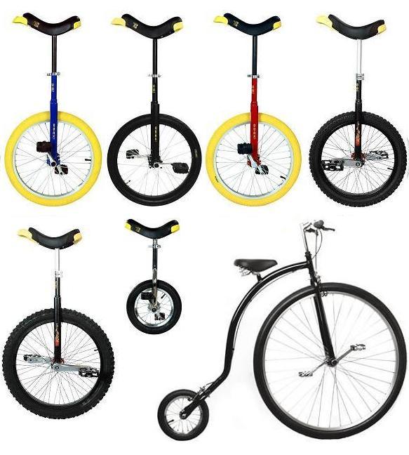 Monocycle et vélo